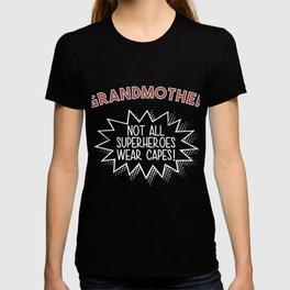 Grandmother Superhero Cape Gift T-shirt