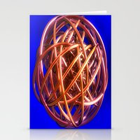 the wire Stationery Cards featuring Wire Ball by Brian Raggatt