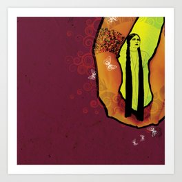 For you - maroon Art Print