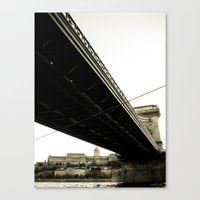 budapest Canvas Prints featuring Budapest by Javier Sánchez