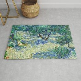 Olive Orchard (1889) by Vincent van Gogh Rug