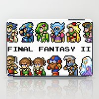 final fantasy iPad Cases featuring Final Fantasy II Characters by Nerd Stuff