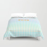 tetris Duvet Covers featuring TETRIS by SMOKESINATRA
