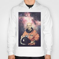picard Hoodies featuring Captain Picard - Astronaut in Space by Nicholas Redfunkovich