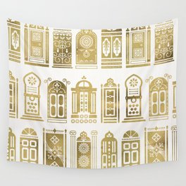 Moroccan Doors – Gold Palette Wall Tapestry