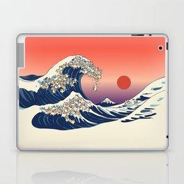 The Great Wave of Corgis Laptop & iPad Skin