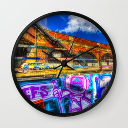 Leake Street and Police Car Wall Clock
