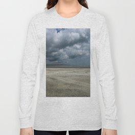 Dramatic Sky Over Golden Isles Beach Long Sleeve T-shirt