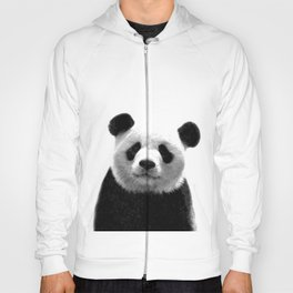Black and white panda portrait Hoody