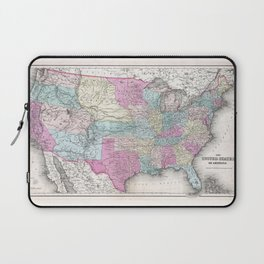 1857 Colton Map of the United States of America Laptop Sleeve