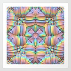 Symmetry in Pastels Art Print