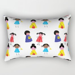 Little girls pattern Rectangular Pillow