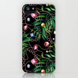 Glamorous Palm Black iPhone Case