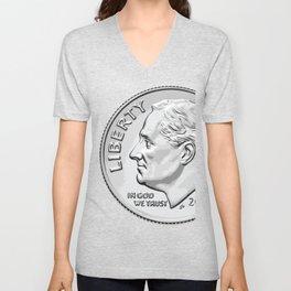 Franklin Delano Roosevelt Unisex V-Neck