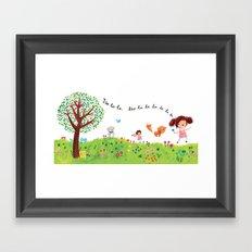 Skipping Framed Art Print