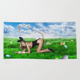 XXX Easter Bunny Beach Towel