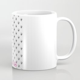 Evil Heart with Devil's Horns, Tail and Skulls Coffee Mug