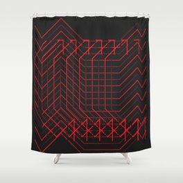 //RED Shower Curtain