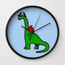 Pirate Dinosaur - Brachiosaurus Wall Clock