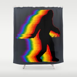 Don't Hide - Gay Pride Bigfoot Shower Curtain