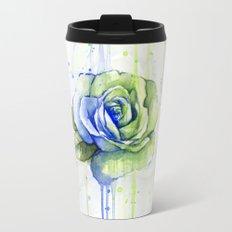 Flower Rose Watercolor Painting 12th Man Art Travel Mug