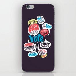 Vote! iPhone Skin