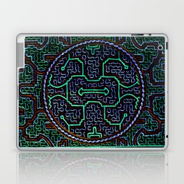 Song to protect the home - Traditional Shipibo Art - Indigenous Ayahuasca Patterns Laptop & iPad Skin