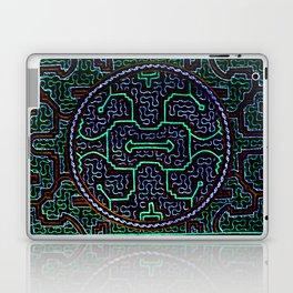 Song to protect the home - Traditional Shipibo Art - Indigenous Ayahuasca Patterns Laptop & iPad Skin