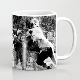College Football Art, Black And White Coffee Mug