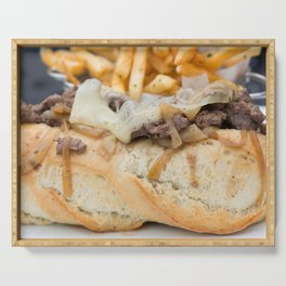 Steak Sandwich with a side of Fries Serving Tray