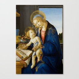 Sandro Botticelli - The Virgin and Child, 1480 Canvas Print