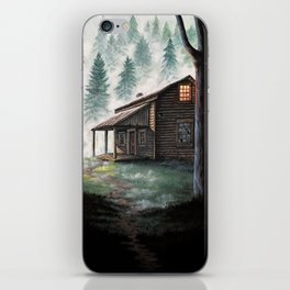 Cabin in the Pines iPhone Skin