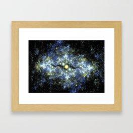 The Starry Sky at Night. Framed Art Print