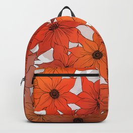 Vintage Warm Clematis Backpack