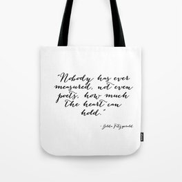 How much can the heart hold Tote Bag