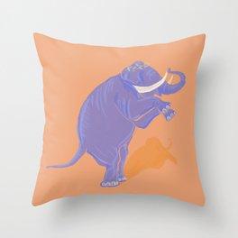 Solo Elephant Throw Pillow
