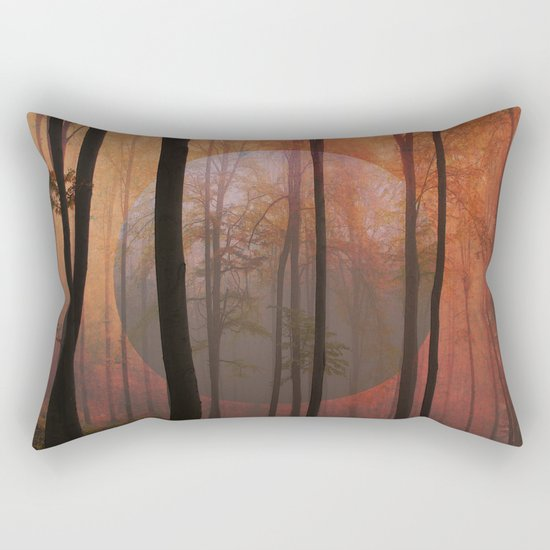 Not From Here, Surreal Forest Rectangular Pillow