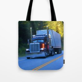 The Revelstoke Run Cargo Truck Tote Bag