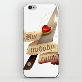 Locket and Knife iPhone Skin