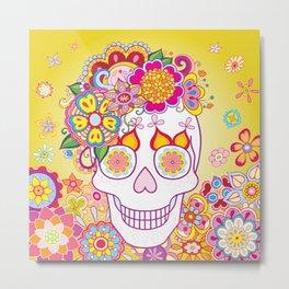 Sugar Skull Art (Felicity) Metal Print