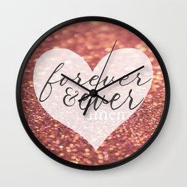 Forever And Ever Amen. Wall Clock