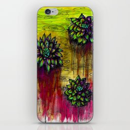 Electric Water Lilies  iPhone Skin