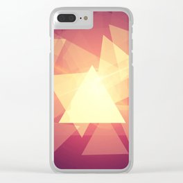 Bright triangles Clear iPhone Case
