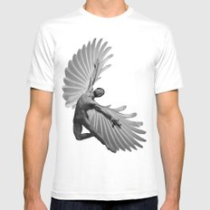Icarus MEDIUM White Mens Fitted Tee