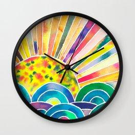 The Dissolving Sun Wall Clock