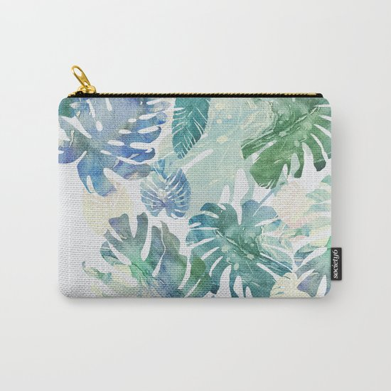 tropical cold leaves Carry-All Pouch