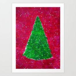Minimalistic New Year Tree Art Print