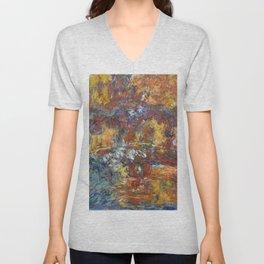 "Claude Monet ""The Japanese Footbridge"" Unisex V-Neck"