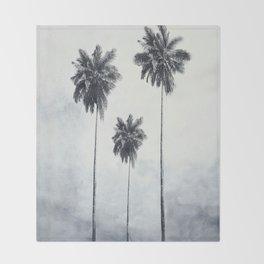 Three Palm Trees Throw Blanket