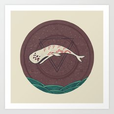 The Devil Roams These Waters Art Print